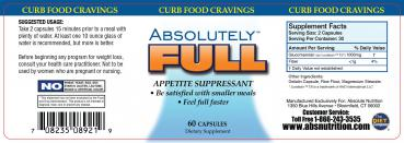 Absolute Nutrition Absolutely Full - Appetite Suppressant