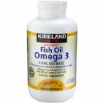 Kirkland Fish Oil 1000mg Concentraded mit 300mg Omega-3 (400 Kapseln)