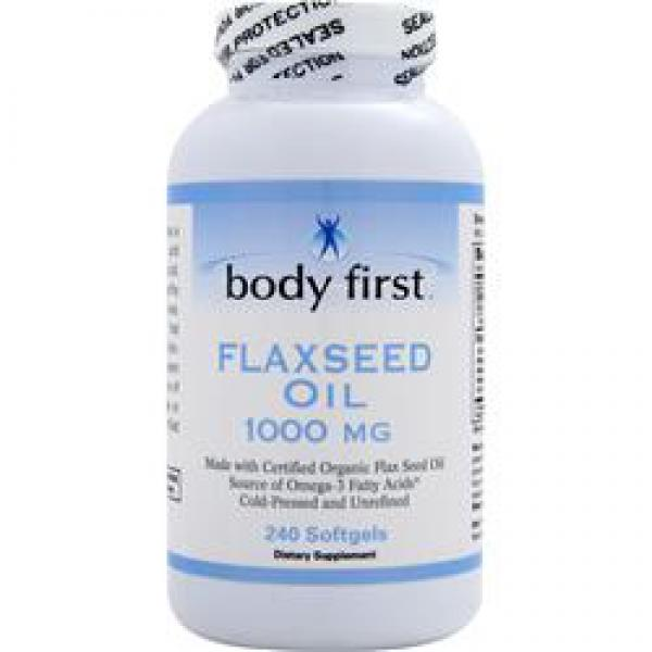 Body First Flaxseed Oil 1000 mg 240 Kapseln